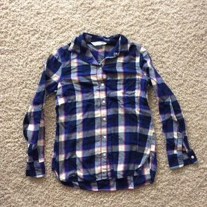 Plaid button down for women
